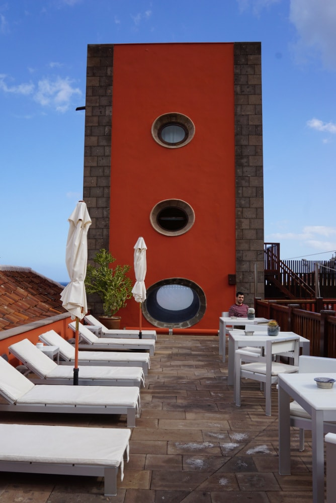 Hotel San Roque rooftop terrace.