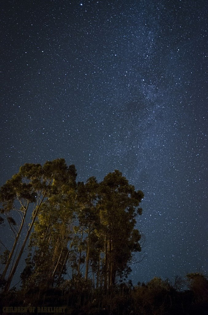 The incredible Milky Way is visible in the Asturias night sky.