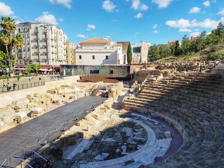 Malaga roman theater on Malaga food tour!