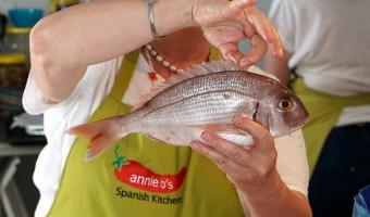 A Spanish cooking class at Annie B's Spanish Kitchen.