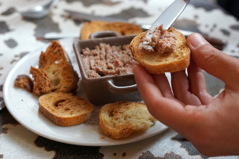 Pate is a typical food in Picardy France.