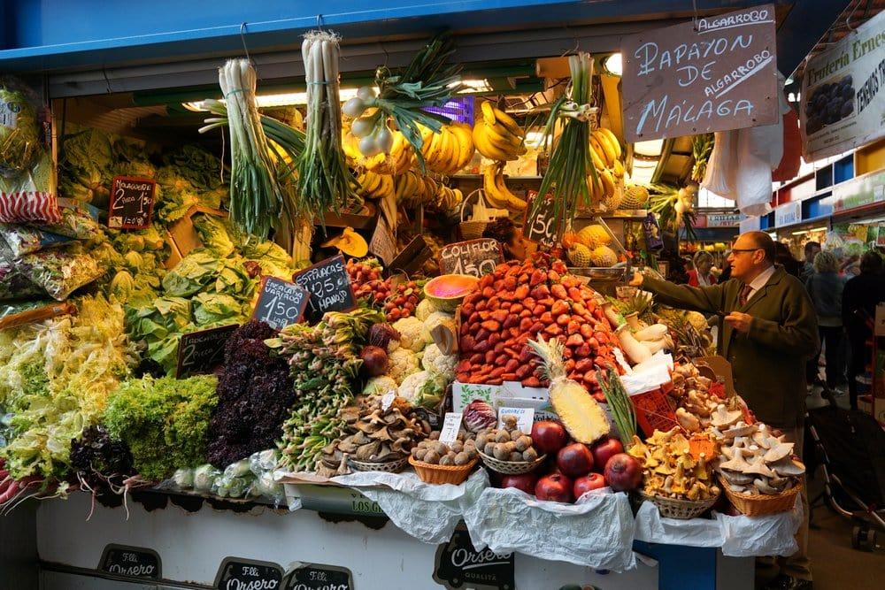 Malaga Tours mercado de alimentos.