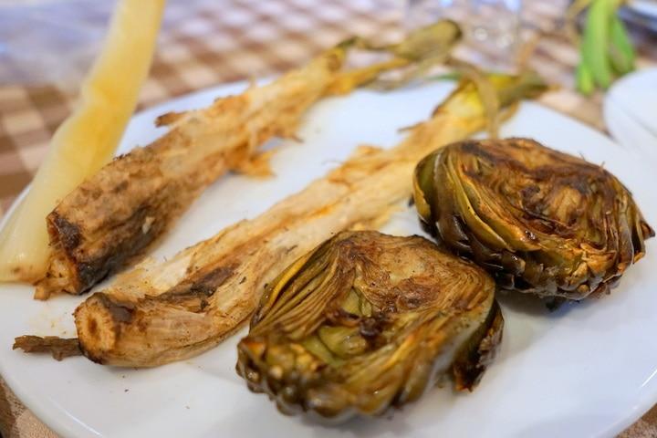 Calçots and artichokes in Barcelona
