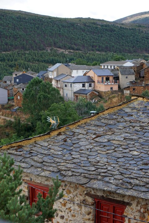 Pozo's gorgeous slate roofs.
