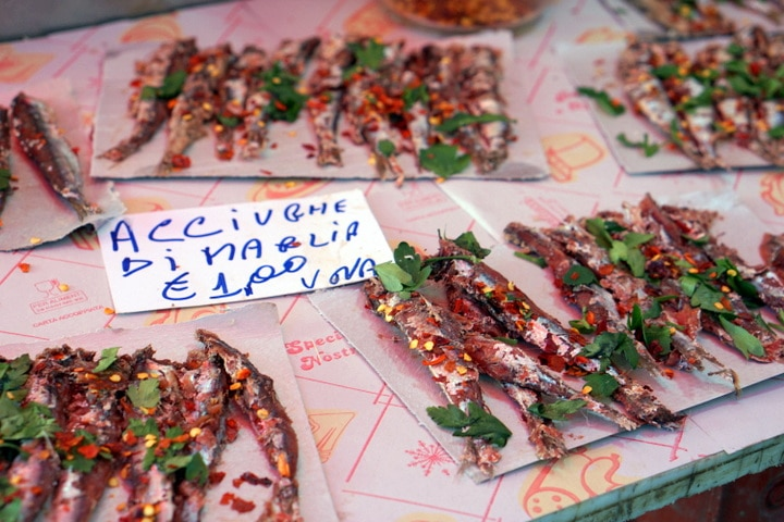Anchovies in Catania