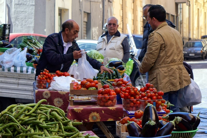 Tomatoes in Catania market