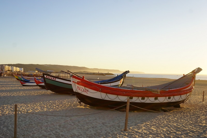 Central Portugal, Nazaré fishing boats