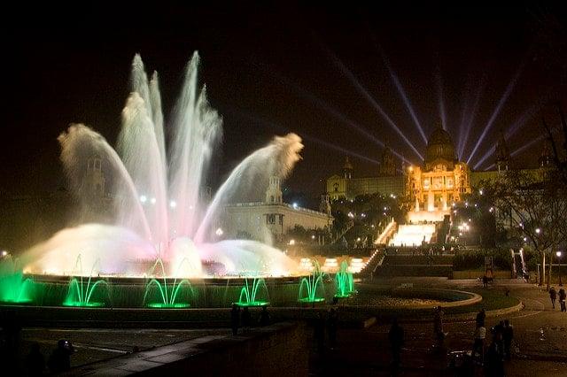 Montjuic Magic Fountain - 3 days in Barcelona