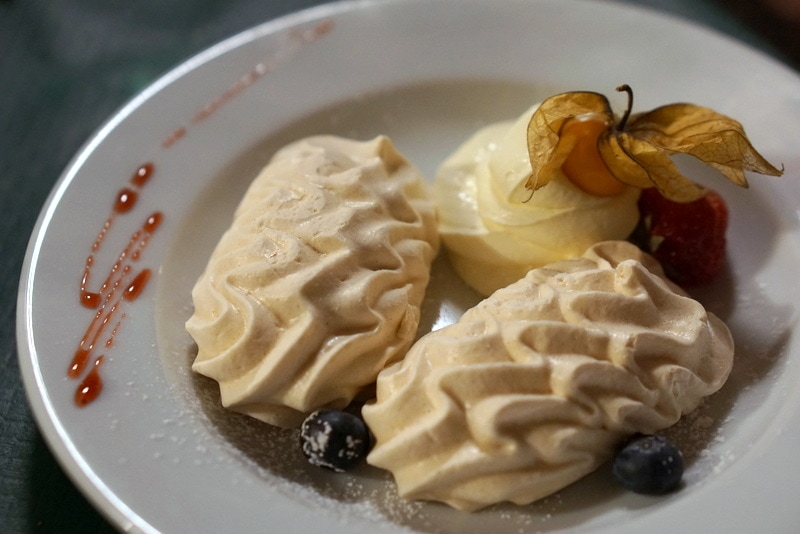 Swiss meringues in Lausanne