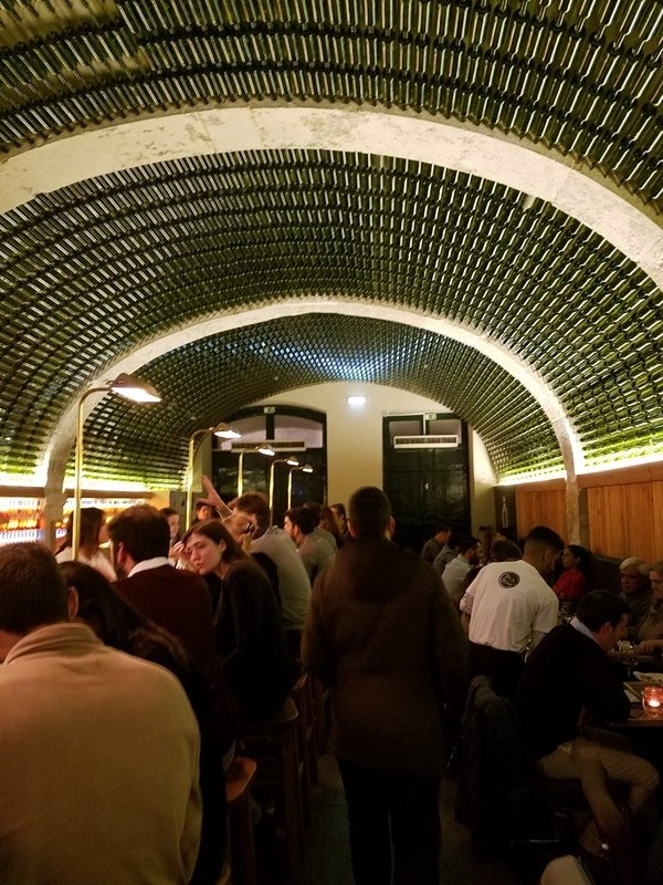 The very cool design at By the Wine - where to eat and drink in Lisbon
