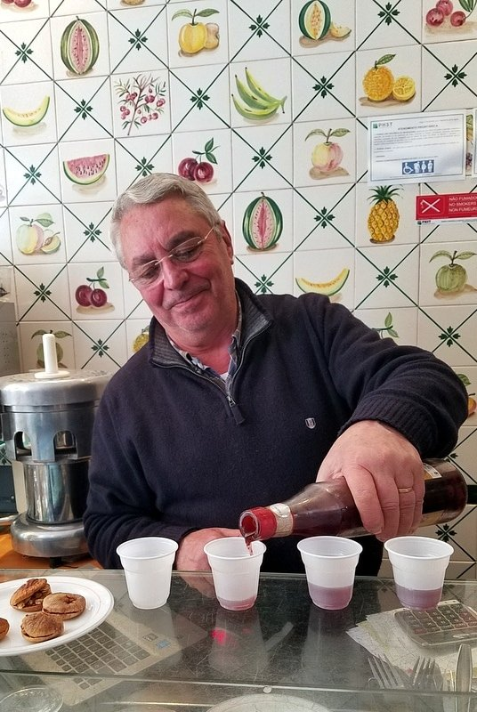 Ginginha liquor in Lisbon