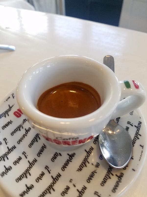 A tiny espresso in Naples