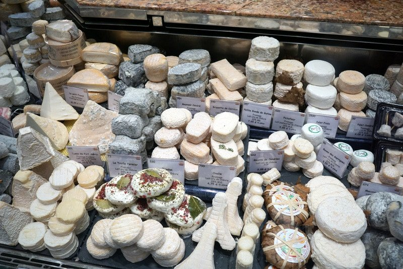 French cheeses are a must try food in Paris.
