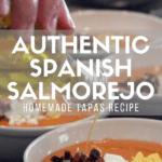 Pinterest pin for authentic Spanish salmorejo