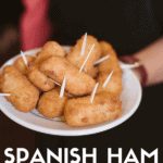 Pinterest image for Spanish ham croquettes