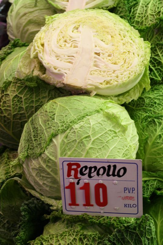 Boiled with a bit of olive oil and paprika, cabbage is one of my favorite wintery foods in Spain!