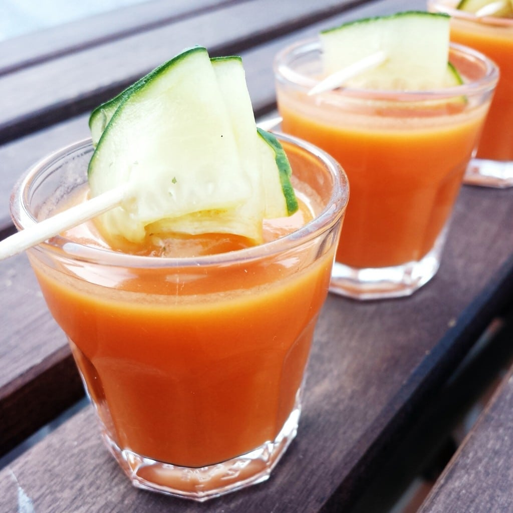 This recipe for Gazpacho Andaluz is light, refreshing and the epitome of healthy Spanish recipes!