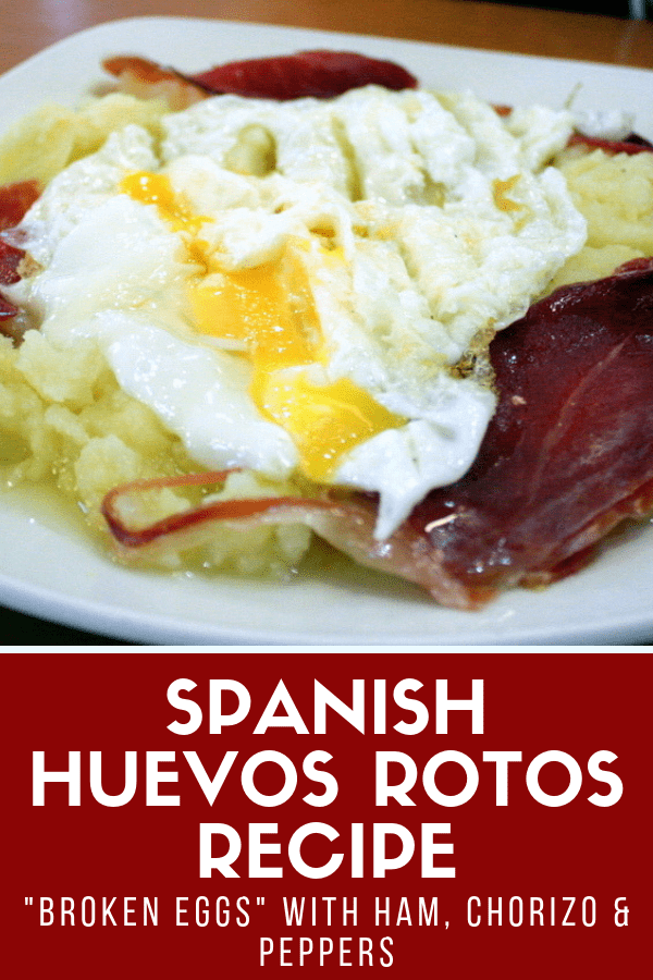 "There's a lot to love about huevos rotos, or ""broken eggs,"" one of the most popular typical dishes in Spain. It's super easy to customize—traditional versions include meat such as ham or sausage, but you can easily make this a vegetarian meal, too! This dish is simple, tasty, and full of protein. Here's how to make huevos rotos at home! #Spain #foodie"