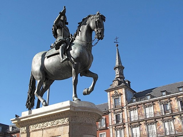 Horse Statue in Plaza Mayor Madrid