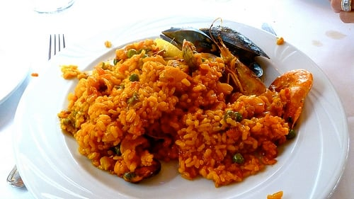A plate of Paella