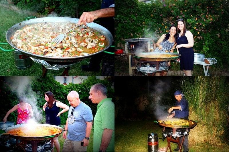 Making a Paella