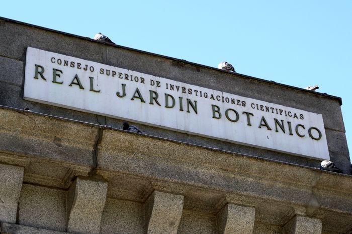 Entrance to Madrid's Royal Botanical Gardens
