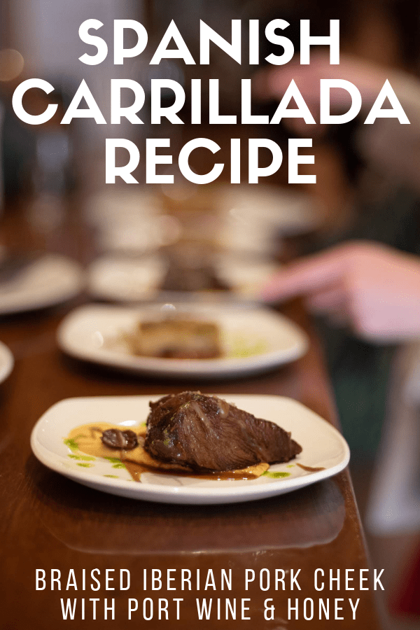 Fair warning: once you learn how to make this carrillada (Spanish pork cheek) recipe, you'll wonder how you ever lived without it! This is one of the most authentic dishes from Spain out there, and the meat is so unbelievably tender and flavorful. Serve with your favorite Spanish red wine and be sure to leave room for dessert to complete the experience! #Spain #foodie