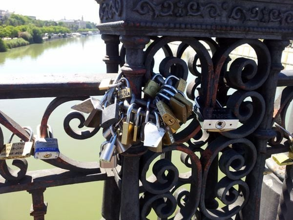 Love locks Seville
