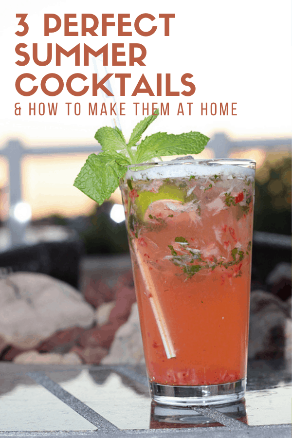 In this guide, I've rounded up some of my favorite simple summer cocktails that are perfect when you need a refreshing drink to beat the heat. Give one of them (or all three!) a try and let me know what you think!