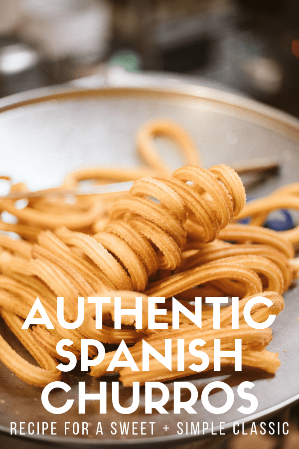 Many people think of churros as a dessert, but in Spain, it's more typical to eat them for breakfast or as a mid-afternoon snack. Here's a simple recipe for how to make delicious, authentic Spanish churros. They're super quick and easy, and an especially great choice for families. Hot chocolate for dipping optional but highly encouraged! #Spain #delish