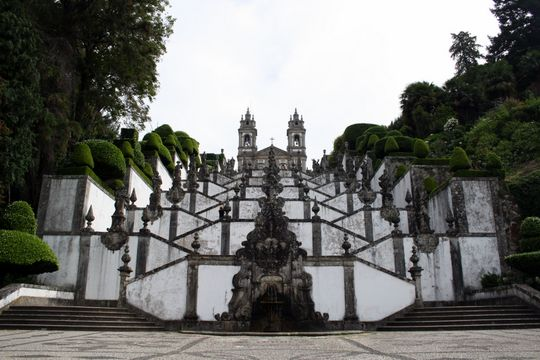 Visiting Bom Jesus do Monte in Braga, Portugal