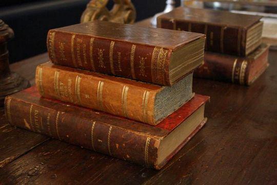 Old books in Il Convento dei Fiori di Seta