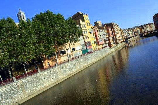 Girona Spain Colorful Houses