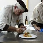 chef plating a dish
