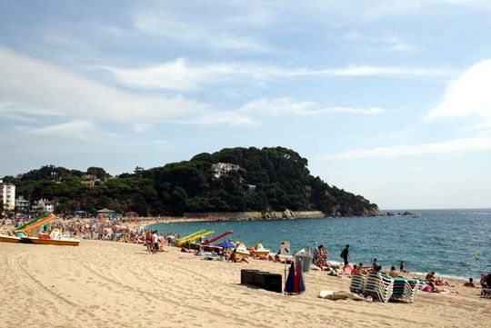 Lloret de mar beachfront