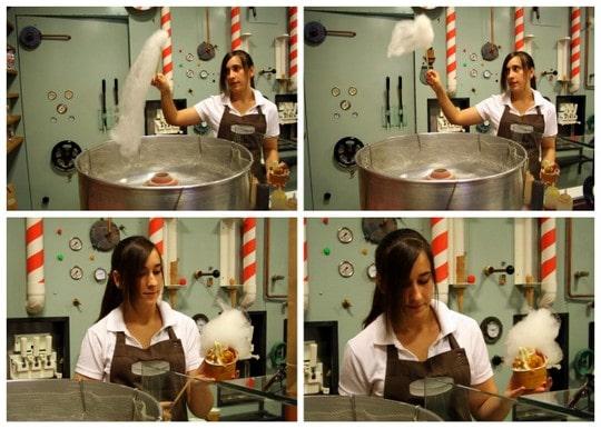 Rocambolesc ice cream shop cotton candy machine
