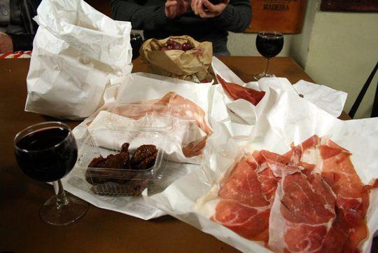 Dinner in Bologna