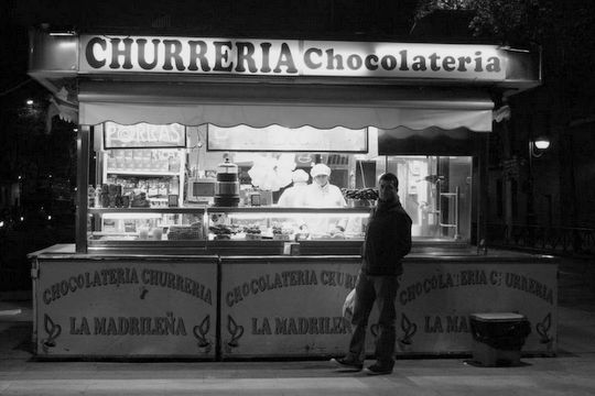 churros stand in Madrid