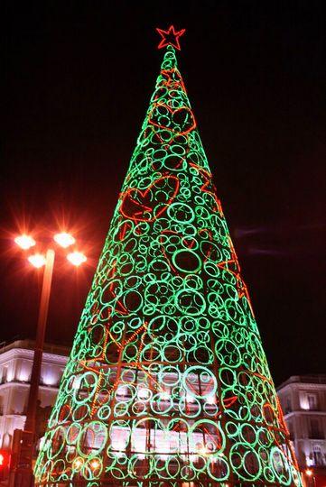 Arbol de Navidad Sol Madrid