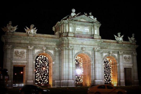 La puerta de Alcala Luces de navidad Madrid