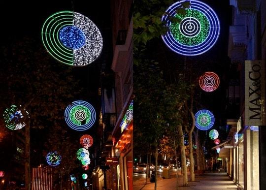 Calle Serrano luces de navidad