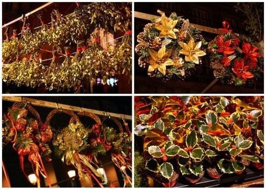 Christmas wreaths Plaza Mayor Madrid