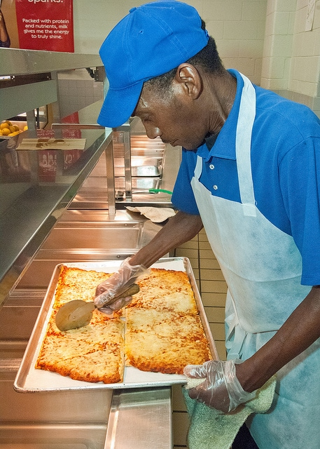 School Cafeteria Pizza Makes a Comeback at Greenville ... |Lunch Series Pizza