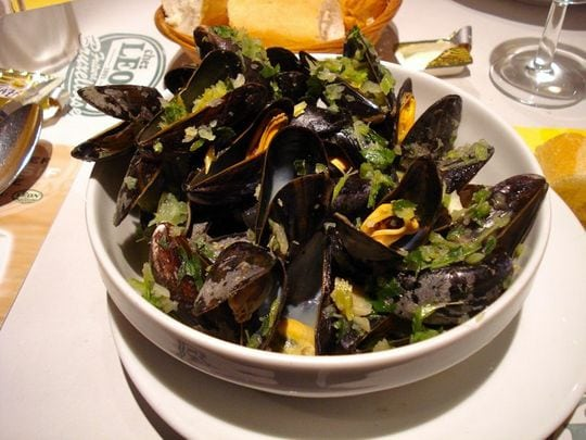 Steamed mussels in brussels