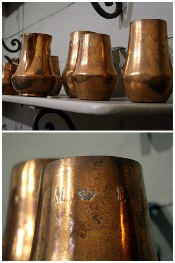 The Royal seal on copper molds