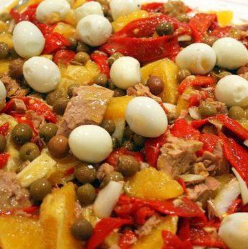 Orange and Red Pepper Salad