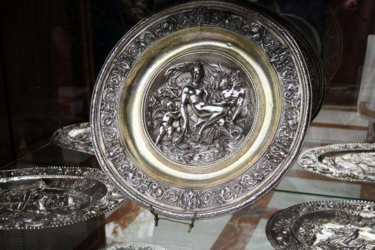 Royal Palace Madrid Silver Plate