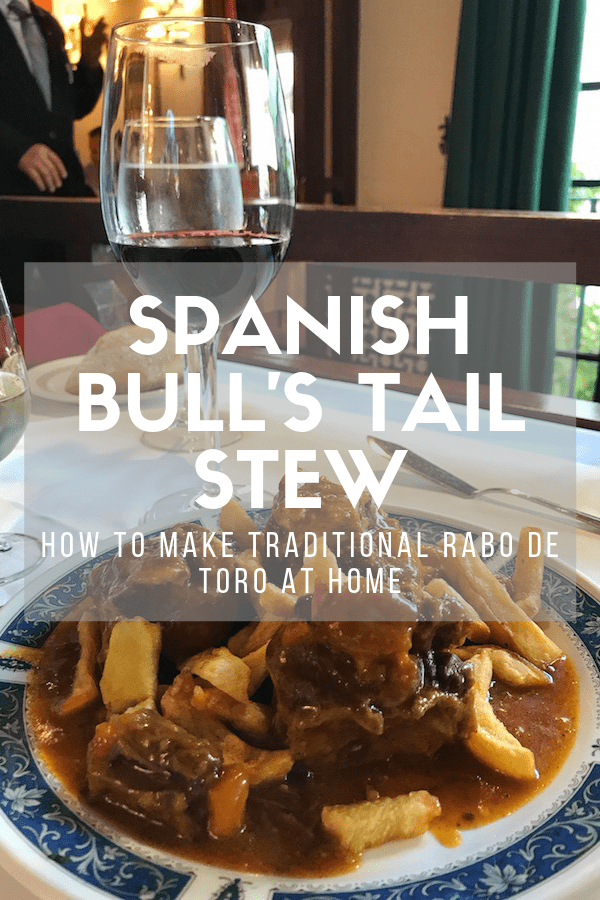 Few meals are as hearty, filling, and comforting as bull tail stew, or rabo de toro in Spanish. The meat is incredibly tender and flavorful, and it pairs perfectly with any of your favorite Spanish red wines! Follow this recipe to learn how to make authentic rabo de toro just like they do in Spain. #spanishfood #delish
