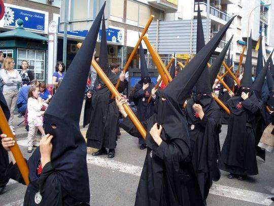 Semana Santa in Seville nazarenos