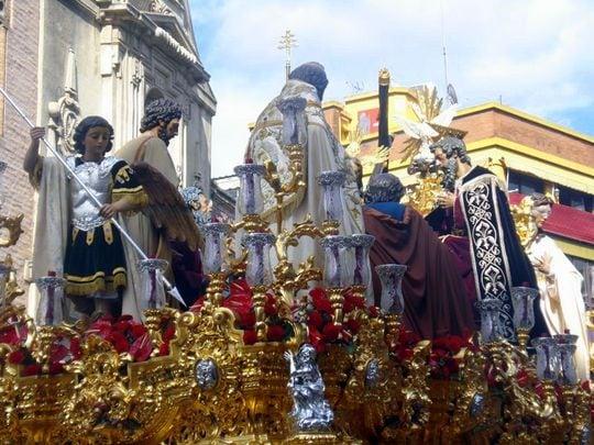 paso semana santa in Seville